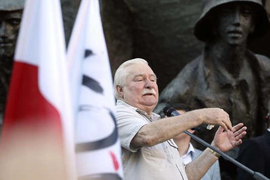 L'ancien président et icône du syndicat Solidarnosc, Lech Walesa, à Varsovie (Pologne) le 4 juillet.