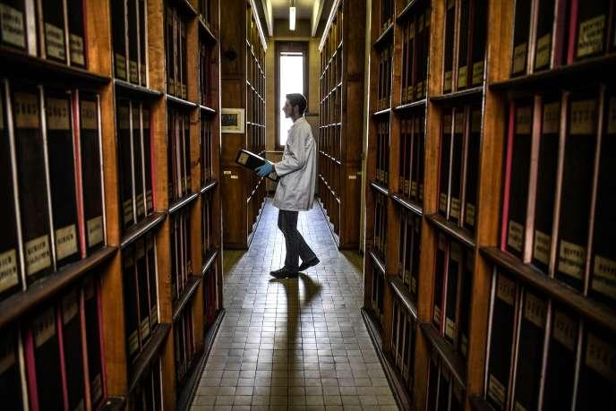 A l'université Claude Bernard Lyon-I, à Villeurbanne, près de Lyon, le 12 mars.