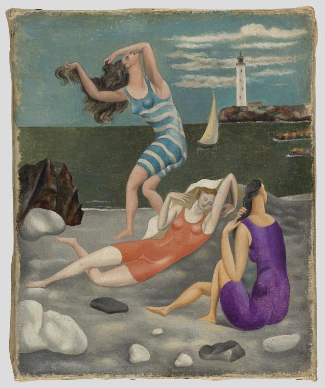 «Les Baigneuses»(1918) de Picasso Pablo.