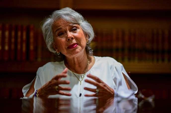Olga Sanchez, le 11 juin à Mexico.