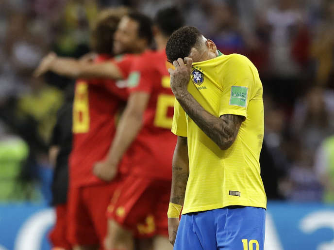 Neymar après l'élimination de la Seleçao face à la Belgique, vendredi 6 juillet.