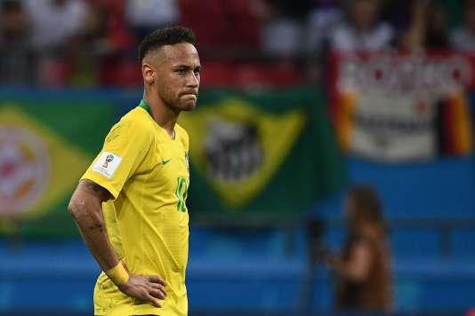Neymar lors du match face à la Belgique, le 6 juillet à Kazan.