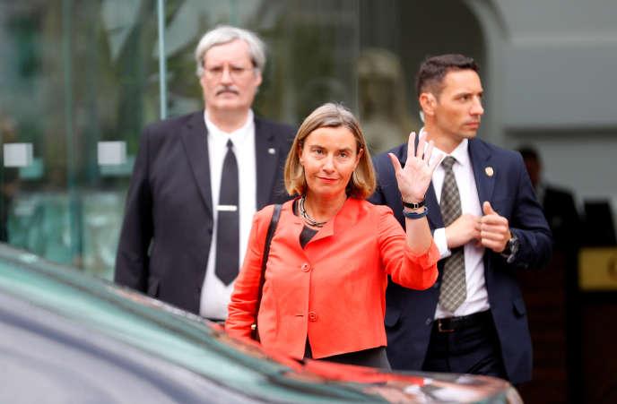 La haute représentante de l'Union européenne pour les affaires étrangères, Federica Mogherini, le 6 juillet à Vienne.