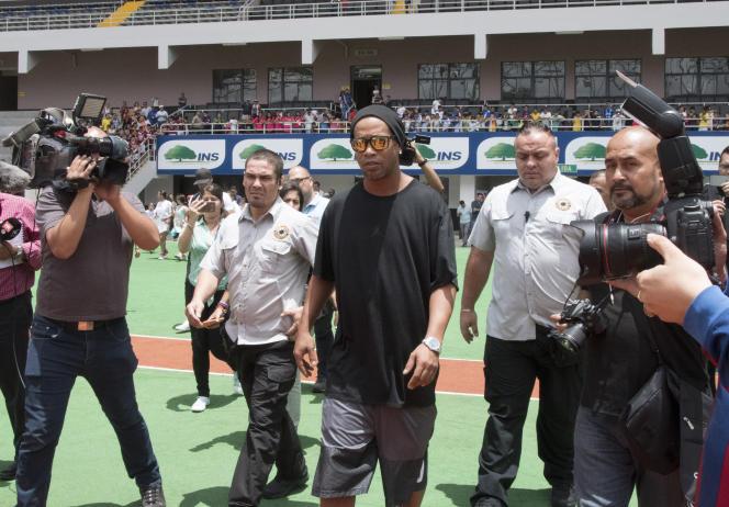 Ronaldinho avant un match de charité, le 4 août 2017.