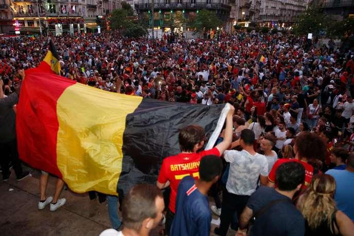 A Bruxelles, le 6 juillet, après la victoire (2-1) de la Belgique face au Brésil en quarts de finale.