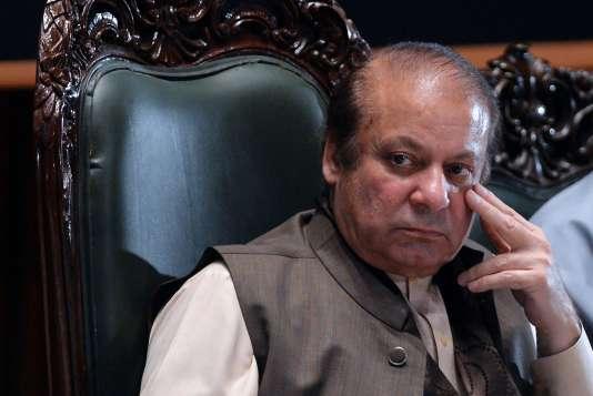 Nawaz Sharif lors d'un séminaire à Islamabad le 17avril 2018.