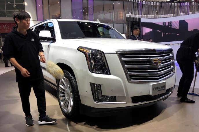 Un SUV Escalade de la marque Cadillac du groupe General Motors, au salon Auto China, à Pékin, le 25 avril.