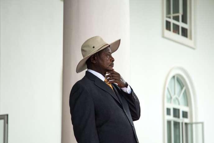 Le président ougandaisYoweri Museveni à Entebbe, le 8 juin.