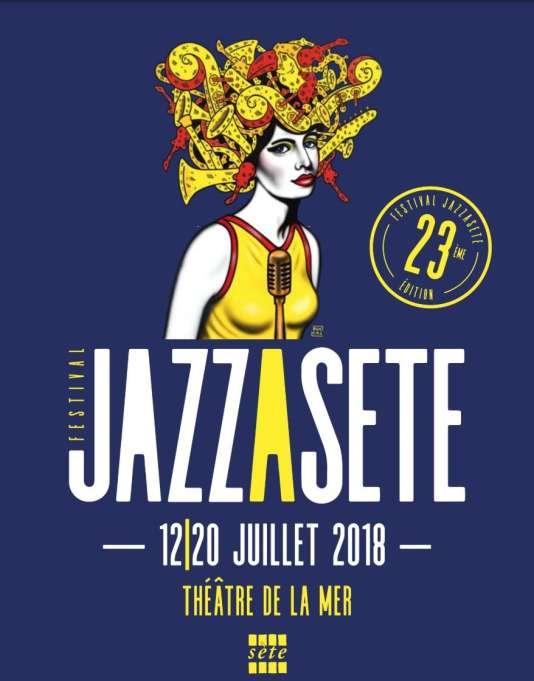 Affiche du festival Jazz à Sète.