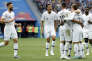 France's scorer Antoine Griezmann, front right, and his teammates celebrate their side's 2nd goal during the quarterfinal match between Uruguay and France at the 2018 soccer World Cup in the Nizhny Novgorod Stadium, in Nizhny Novgorod, Russia, Friday, July 6, 2018. (AP Photo/David Vincent)