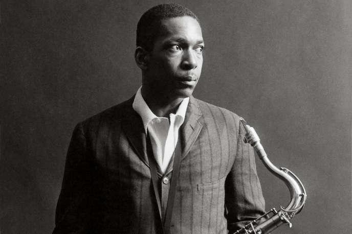 John Coltrane au studio Rudy van Gelder, à Englewood Cliffs (New Jersey), en 1963.