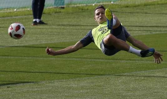 Florian Thauvin, le 7 juillet à l'entraînement à Istra.