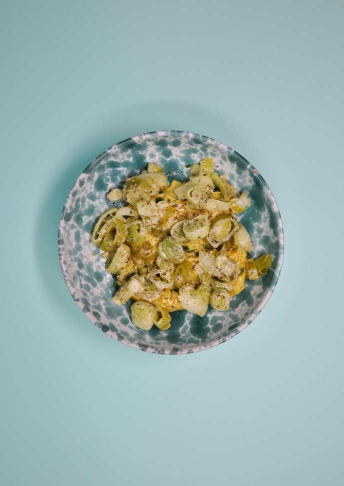 Se réconcilier avec la fondue de poireaux en l'associant à desœufs brouillés.