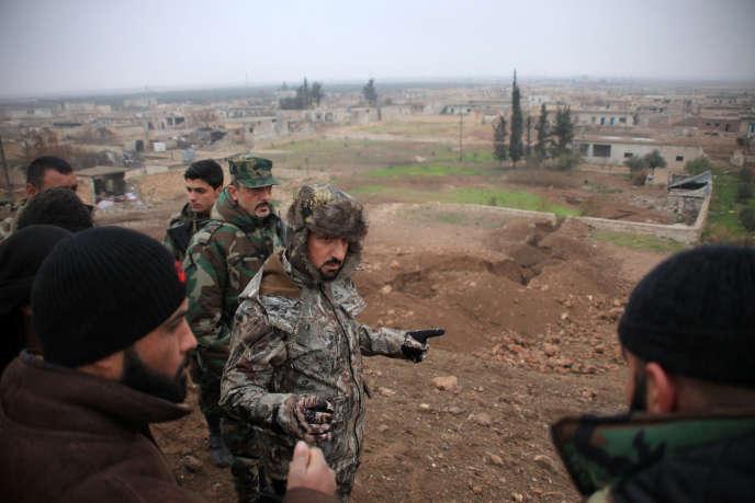 Le brigadier-général syrien Souhaïl Al-Hassan, dit «Al-Nimr»(«le Tigre»), à Al-Najjarah près d'Alep, en janvier 2016.