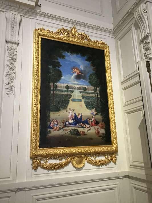 « Vue du Grand Trianon prise des parterres, avec Flore et Zéphyr», de Jean Cotelle, après sa restauration.