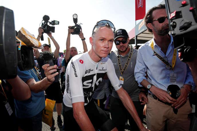 Christopher Froome au départ de la première étape du Tour de France, samedi 7juillet à Noirmoutier.