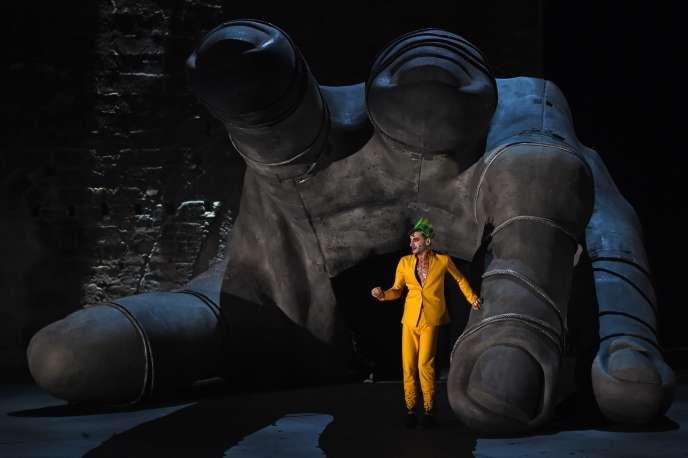 Thomas Jolly dans «Thyeste», la pièce de Sénèque qu'il met en scène au Festival d'Avignon.