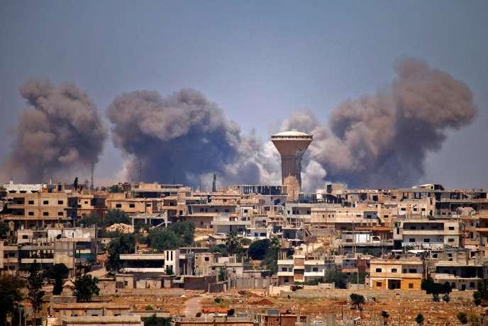Dans la province de Deraa, en Syrie, le 5 juillet.