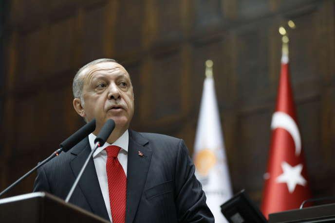 Le président turc, Recep Tayyip Erdogan, le 7 juillet 2018, à Ankara.