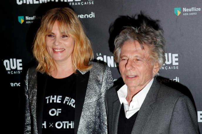 Emmanuelle Seigner et son mari Roman Polanski à la projection du film «D'après une histoire vraie», à la Cinémathèque de Paris, le 30octobre.