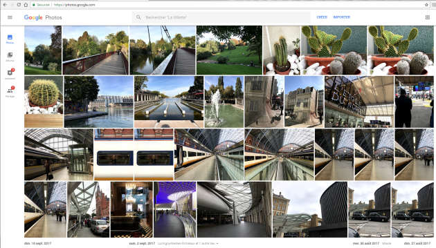 La galerie photo de Google est consultable confortablement sur ordinateur.