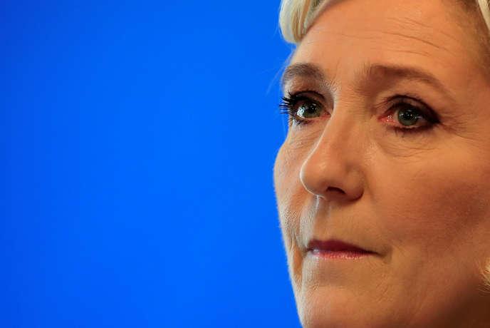 Marine Le Pen au siège du Rassemblement national, à Nanterre, le 9 juillet.