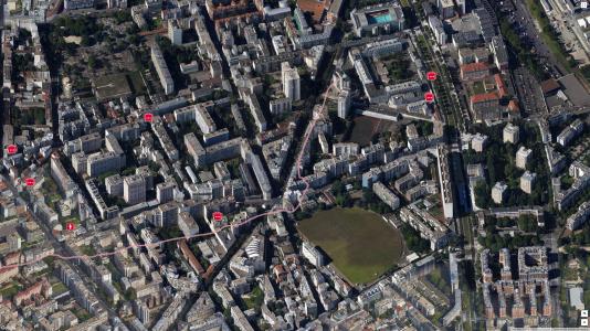 Un trajet sportif réalisé à partir du siège de la DGSE, dans le XXe arrondissement de Paris.
