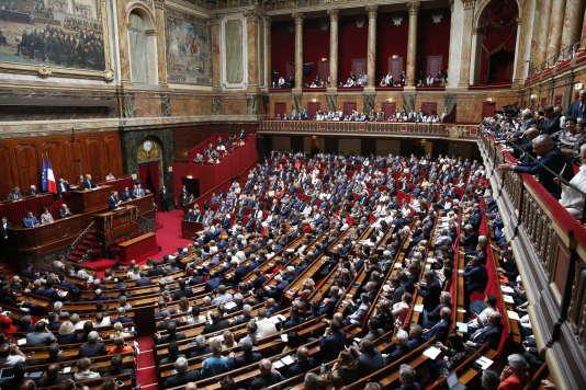 Discours d'Emmanuel Macron à Versailles, devant les députés réunis en Congrès, lundi 9 juillet.