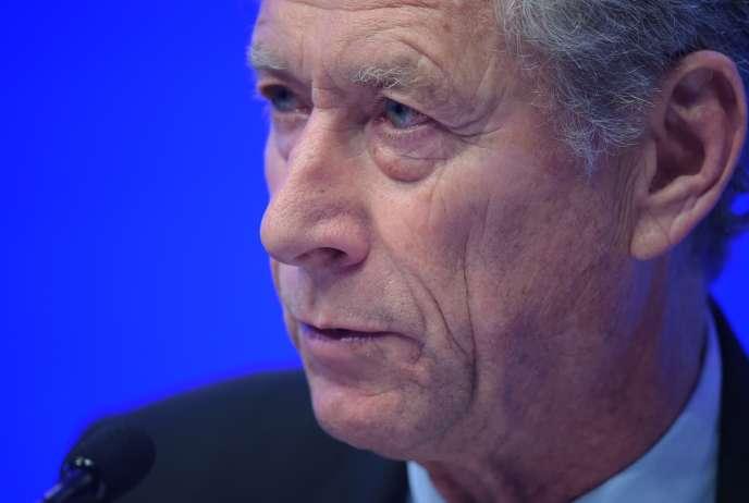 Olivier Blanchard,économiste au Peterson Institute, ancien économiste en chef du Fonds monétaire international,à Washington, le 8 avril 2014.