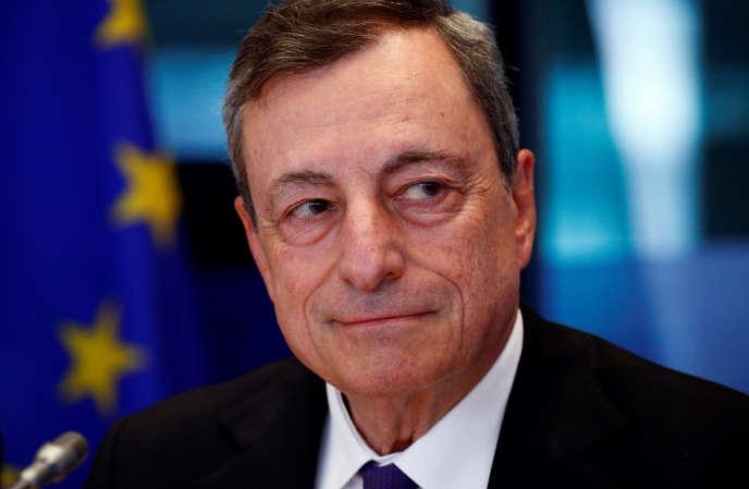 Mario Draghi, le président de la Banque centrale européenne, à Bruxelles, le 9 juillet 2018.