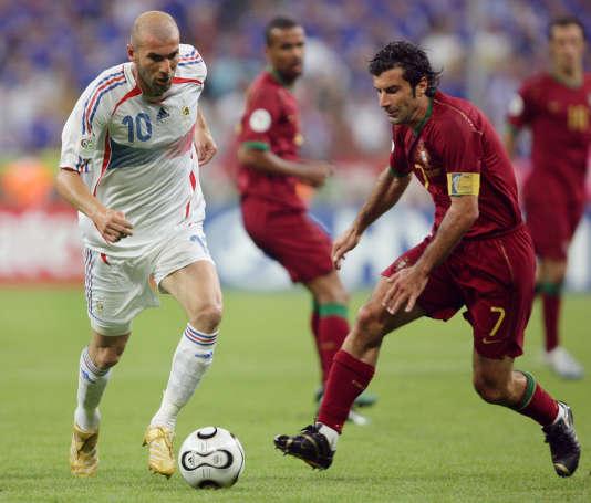 Zinedine Zidane et Luis Figo se sont affrontés pour une place en finale.