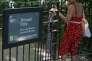 Un panonceauindique « réservé aux femmes», dans le parc de Hampstead Heath, à Londres, le 27 juin.