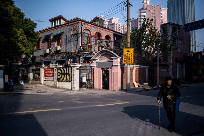 Dans le quartier de Hongkou, au nord-est de Shanghai, en janvier 2017.
