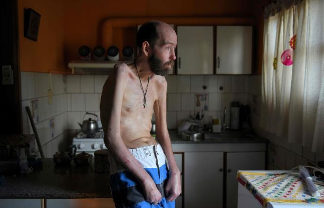 Fabian Tomasi dans sa cuisine de Basavilbaso, dans la région d'Entre Rios, en février 2018.