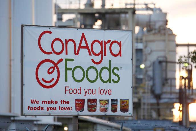 Une usine du groupe Conagra à Oakdale (Californie), en décembre 2015.