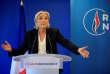 La présidente du Rassemblement national, Marine Le Pen, le 9 juillet au siège du parti à Nanterre.
