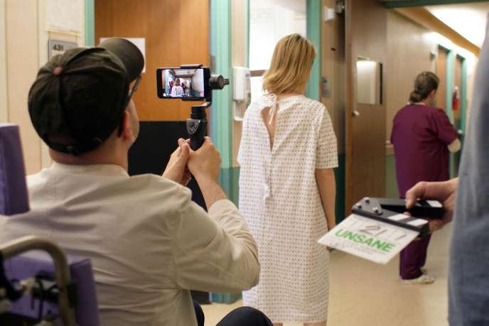 Le réalisateur Steven Soderbergh sur le tournage de son film«Paranoïa».