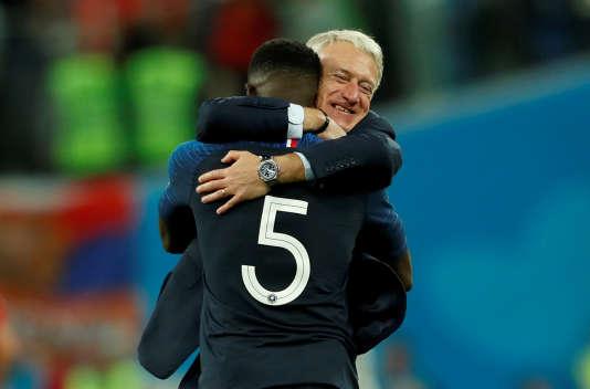 La joie de Didier Deschamps après la demi-finale.
