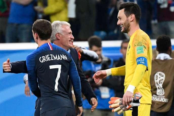 Les Bleus après leur victoire face à la Belgique.