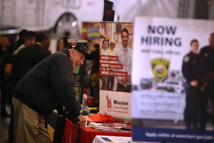 Une foire de l'emploi à Alameda, en Californie, en novembre 2017.