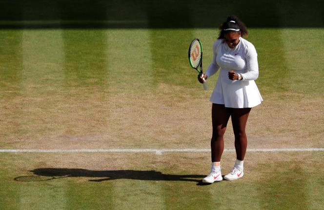 Serena Williams, le 10 juillet à Wimbledon.