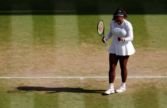 Serena Williams, le 10 juillet à  Wimbledon.