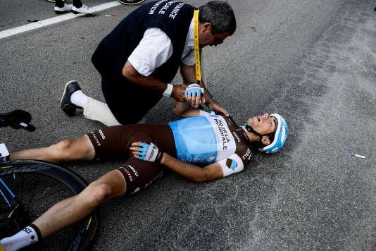 Axel Domont a subi sa sixième fracture de la clavicule, la première sur l'épaule droite.