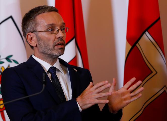 Le ministre de l'intérieur Herbert Kickl, à Vienne, le 3 juillet.