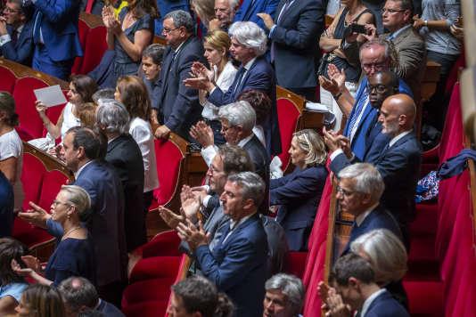 Après le discours d'Emmanuel Macron, à Versailles le 9 juillet.