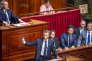 Emmanuel Macron, le président de la République, devant le Parlement réuni en Congrès à Versailles, lundi 9 juillet.