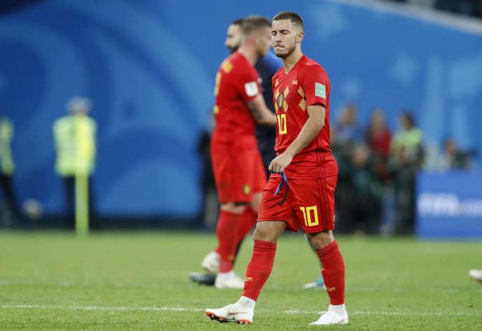 La déception d'Eden Hazard après la défaite des Diables rouges, mardi 10 juillet.