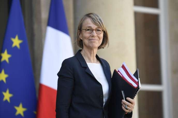 Françoise Nyssen, la ministre de la culture, à l'Elysée, le 20 avril.