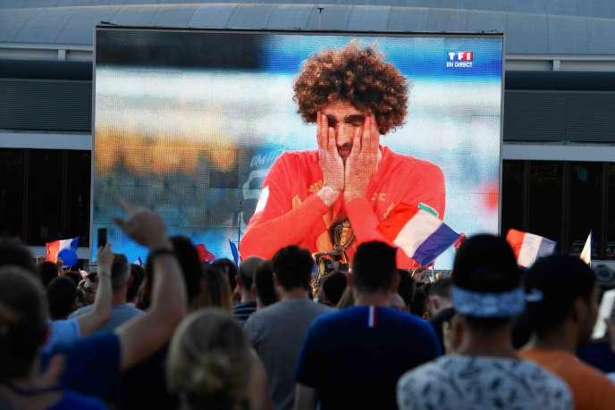 A Rennes, le 10 juillet, lors de la demi-finale entre la France et la Belgique.