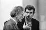 Alberto Giacometti et Francis Bacon, à la Tate Gallery, à Londres, en 1965.